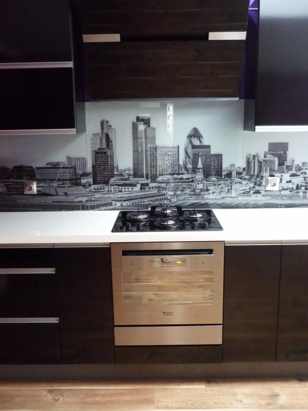 Kuchnia Wyslona Szklana Czarno Biale Miasto Miasto Galeria